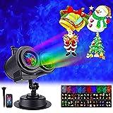 K-Bright Luces Proyector de Navidad, Impermeable Exterior Decoración Luz de Proyector con Control Remoto para Navidad, Halloween, Festivos, Bodas-16 Patrones