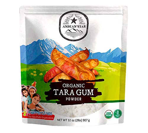 Andean Star Organic Tara Gum Powder -2lbs- 100% Natural Thickening Agent for Baking and Ice Cream - Gluten-Free Alternative to Guar, Locust Bean, and Xanthan Gum – Kosher, Vegan, Non-GMO