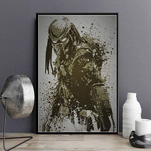 yuyu-beautiful Película Clásica Personajes Calientes Salpicadura Godfathe Fight Club Terminator Alien Gift Wall Art Decor Painting Poster Canvas 50X70Cm Sin Marco