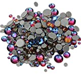 BrillaBenny 1000 Cristalli TERMOADESIVI Volcano Blue HOTFIX Mix 2mm/3mm/4mm/5mm/6mm Rhinestone Crystal Diamond Luxury Blu Hot Fix