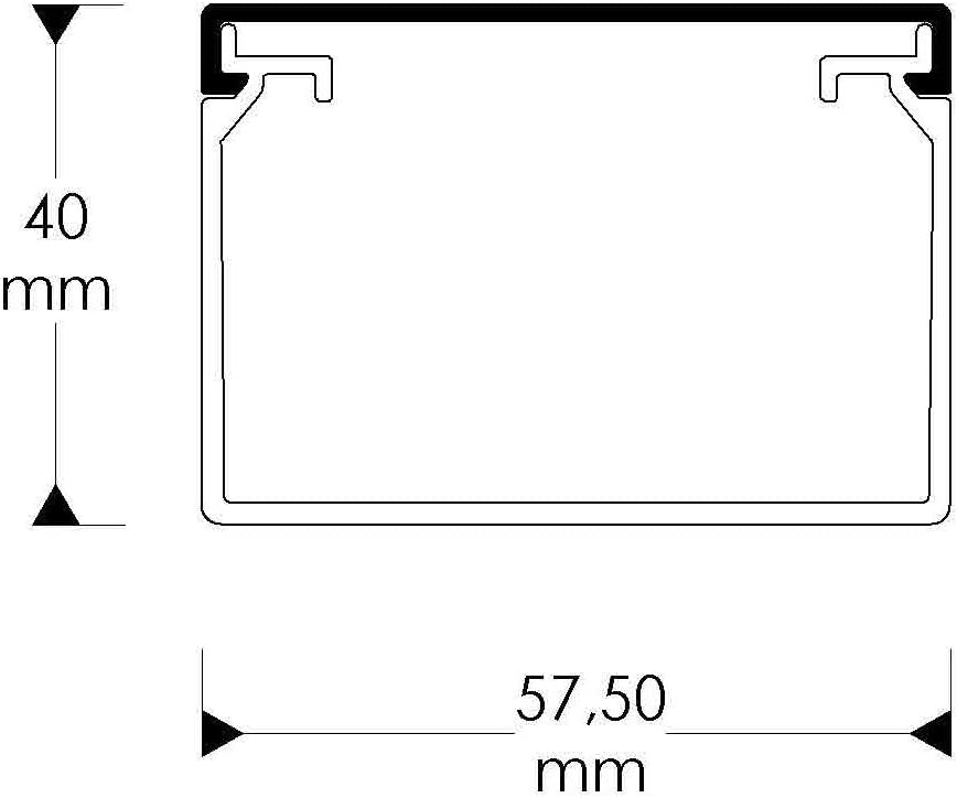 Habengut Kabelkanal Mit Montagelochung Im Boden 40x60 Mm Aus Pvc Farbe Schwarz Länge 1 M Baumarkt
