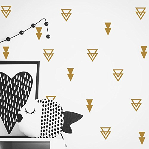 Set of 44 pcs Triangles Modern Arrow Pattern Wall Sticker-DIY Home Wall Decal for Kids Boys Baby...