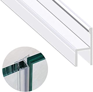 Zengest Glass Door Seal Strip, 120 Inch Shower Door Sweep to Stop Leaks, Shower Silicone Seal Strip