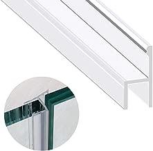 Zengest Glass Door Seal Strip, 120 Inch Shower Door Sweep to Stop Leaks, Shower Silicone Seal Strip