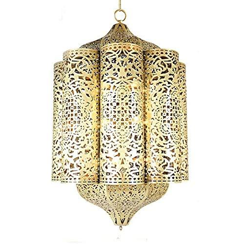 GaLon Europese koperen lampen-plafondlamp, Arabische moderne hangende zolder verlichte holle soldeerlamp voor restaurant-café-hal