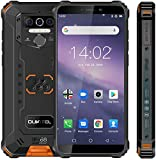 Rugged Cell Phone Unlocked OUKTEL WP5,8000mAh Battery, Android 10.0 Rugged Smartphone, 5.5 Inch 4GB RAM+32GB ROM, IP68 Waterproof Shockproof Phone with 4 LED Flashlights, Triple Camera, Dual SIM 4G