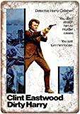 Clint Eastwood Dirty Harry Metall Blechschild Retro Metall