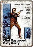 Clint Eastwood Dirty Harry 注意看板メタル安全標識注意マー表示パネル金属板のブリキ看板情報サイントイレ公共場所駐車ペット誕生日新年クリスマスパーティーギフト