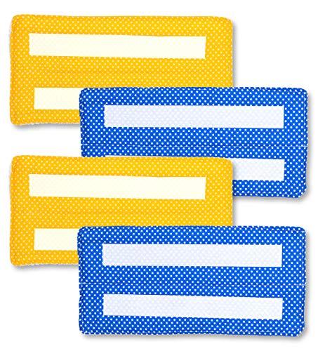 Xanitize Wiederverwendbare Nasswischpads für Swiffer Wet Jet, waschbare Baumwolle, umweltfreundliche Nachfüllpads für Nassbodenwischer (gelbe und blaue Punkte)
