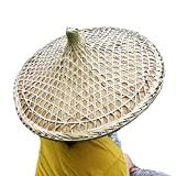 Z-ONE Rice Hat Chinese Cantonese Traditional Bamboo Hat Dia. 20.5'