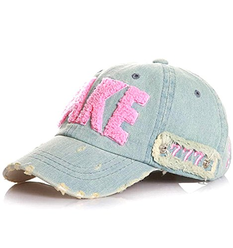 Kuyou Distressed Baby Kids Kappe Hut Kinder Sport Mütze Berets Cap (Medium, Rosa)