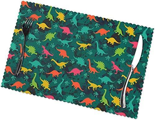 Tapetes de Mesa Coloridos Manteles Individuales de Dinosaurios Coloridos para Mesa de...