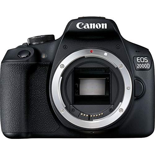 Canon EOS 2000D Spiegelreflexkamera Gehäuse (24,1 MP, DIGIC 4+, 7,5 cm (3,0 Zoll) LCD, Full-HD, WIFI, APS-C CMOS-Sensor), schwarz