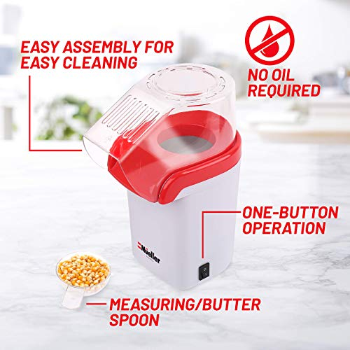 Product Image 4: Mueller Ultra Pop, Hot Air Popcorn Popper, Electric Pop Corn Maker, Healthy and Quick Snack, No Oil Needed with Measuring/Butter Cup
