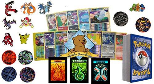 50 Assorted Pokemon Cards - 5 Rares…