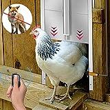 InLoveArts Ouvre-porte automatique pour poulets Accessoires pour poulaillers Porte de poulailler à verrouillage automatique pour coopératives, cages, pistes, poulet, accessoires pour poulailler