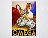 Hombre Hombres Omega Watch 433 488 Vintage Retro Poster, Publicidad Vintage, Póster de arte de pared, Hombre, Hombre, Hombre, Hombre, Omega, Reloj, Vintage, Cartel