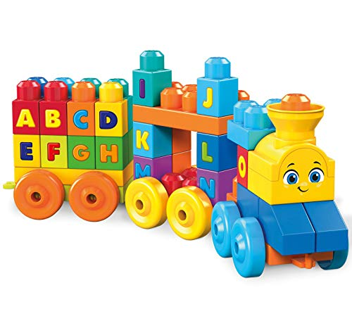 Mega-FWK22 Tren musical ABC 50 Piezas, multicolor (Mattel FWK22)