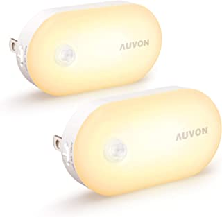 AUVON Ultra Bright Motion Sensor Night Light Plug in (120 Lumens), Dimmable Smart LED Nightlight Plug Into Wall with 1lm t...