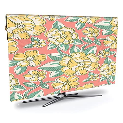 LANCYG TV Cubierta Protectora, Monitor Polvo Funda Impresión televisiva Impermeable, a Prueba de Aceite y Cubierta, impresión de Lujo, Resistente a la Intemperie y protección de Plasma TV