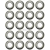 Selling Wonderful 1-9/16-Inch Inner Diameter Plastic Curtain Grommets 20-Pack (Silver)