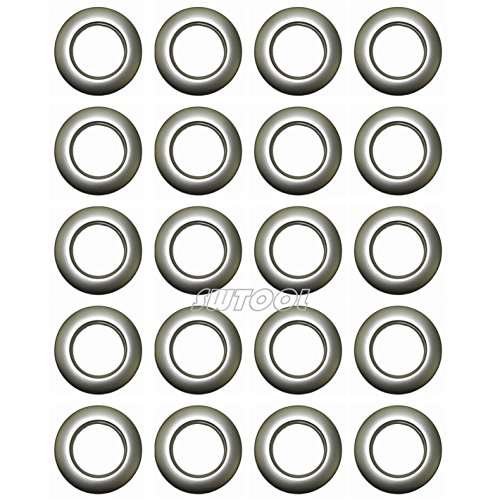 Selling Wonderful 1-9/16-Inch Inner Diameter Plastic Curtain Grommets 20-Pack (Silver)
