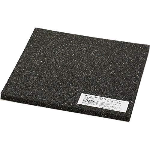 光 低反発ウレタン 黒 200×200×10�o テープ付 KTHU-2012T