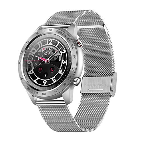 Leoboofe MX5 Smart Watch Call Cardiofrequenzimetro Fitness Tracker IP68 Smartwatch Impermeabile Uomo Donna per Smartphone Migliori Regali - Acciaio Argento
