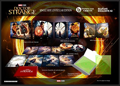 DOCTOR STRANGE [3D Blu-ray + 2D Blu-ray BLUFANS Steelbook SINGLE LENTICULAR SLIP Edition; Region-Free; Sold Out]
