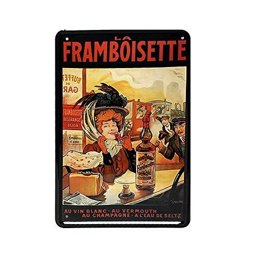 332 BONIFUXI - Placa de metal con texto en inglés 'Colorfast para hombre y mujer', diseño de texto en inglés, 20,3 x 30,5 cm, para cafetería, bar, restaurante, pub