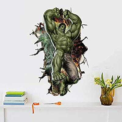 TENG YU Hulk Wall Decal Marvel Super Hero Wall Stickers Vinyl Art Home Kids Boys Bedroom Nursery Decor?Size?15.7 x 23.7 inch ?