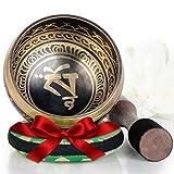 Silent Mind ~ Juego De Cuencos Tibetanos ~ Diseño Equilibrio y Armonía ~ Con Mazo De Sup...