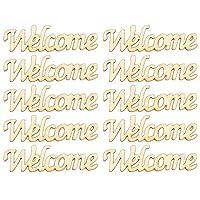 Artibetter 30個歓迎看板木製の手紙未完成歓迎木製看板木製歓迎カットアウトフロントドアホームインテリアドアハンガー結婚式パーティー装飾