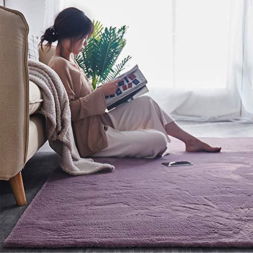 Weicher zotteliger Teppich, superweicher Langflor, flauschiger Teppich, bequemer Boden, Teppich,...