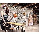 Weaeo Personalizado Hd Dibujado A Mano Mural Wallpaper Roll Wallpaper For Walls 3 D Tienda De Ropa Para Cosméticos Fondo De Pared-250X175Cm