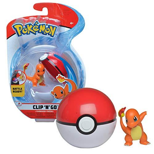 Bandai- Pokémon-Poké Ball & su Figura 5 cm de salamida, WT97644