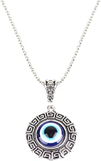 Evil Eye Charm Greece Blue Necklace Meaning Jewelry from Israel Greek