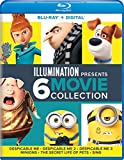 Illumination Presents: 6-Movie Collection (Despicable Me / Despicable Me 2 / Despicable Me 3 / Minions / The Secret Life of Pets / Sing) [Blu-ray]