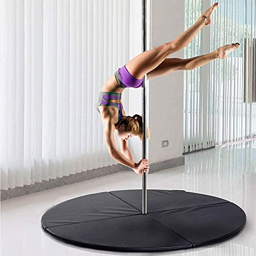 YIZHIYA Pole Dance Mat, 160cm de diámetro, Alfombrilla Plegable portátil Redonda para Baile en Barra, para Principiantes Gimnasia Yoga Stripper Seguridad protección Esterilla,Thickness 5cm