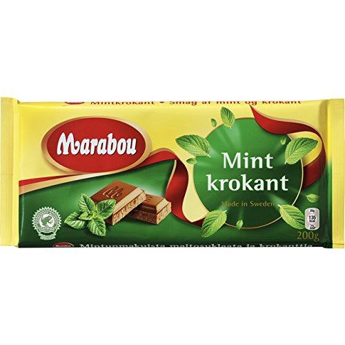 Marabú Mintkrokant - chocolate con leche con crujiente de menta 200g