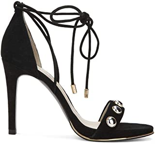 Women's Berry Stud Ankle-Laceup Stilleto Dress Sandal Heeled