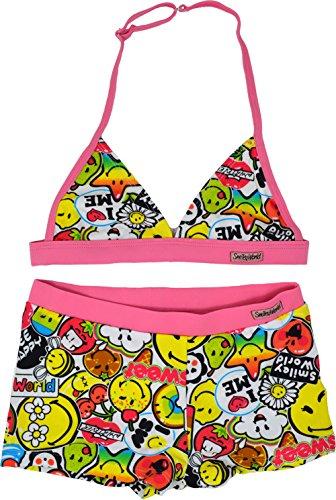 SMILEY WORLD Bikini meisjesbadpak leeftijd 6 tot 12 jaar