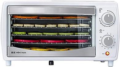 Máquina de conservación de alimentos para el hogar Deshidratador de frutas, control de perilla, temperatura ajustable de 38 a 78 ° C y secador para frutas secas frescas y secas Rejilla de 5 capas para
