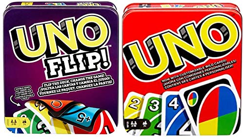 Uno and Uno Flip Tins 2-Pack