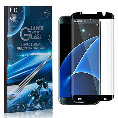 1 Stück Schutzfolie für Galaxy S7 Edge, LAFCH Displayschutzfolie für Samsung Galaxy S7 Edge, 3D Full Cover Panzerglasfolie, Anti-Kratzer/9H Härte
