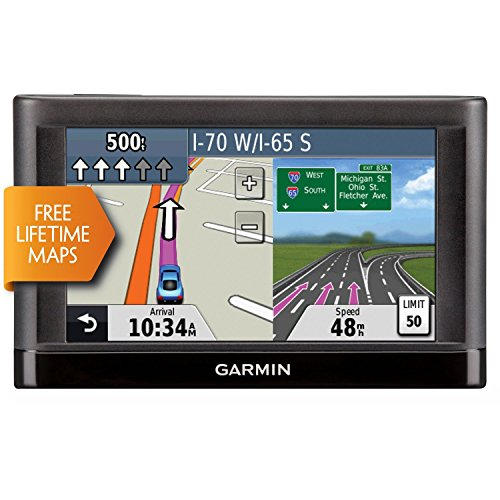 """Garmin Nuvi 55LM 5"""" Touchscreen Car Sat Navigation GPS w/Lifetime Maps 0119-801 (Renewed)"""