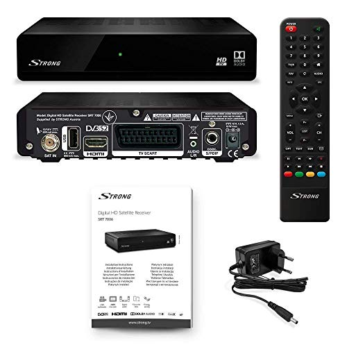 Strong SRT 7006 Receptor de satélite TV HD Free-To-Air (HDTV, DVB-S2, Media Player, USB, HDMI) nero