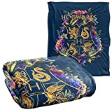 Harry Potter Hogwarts Multi-Colored Floral Crest Officially Licensed Silky Touch Super Soft Throw Blanket 50' x 60'