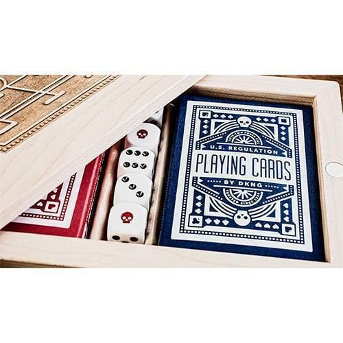 SOLOMAGIA Mazzo di Carte DKNG Blue Wheel Playing Cards by Art of Play - Mazzi di Carte da Gioco - Giochi di Prestigio e Magia