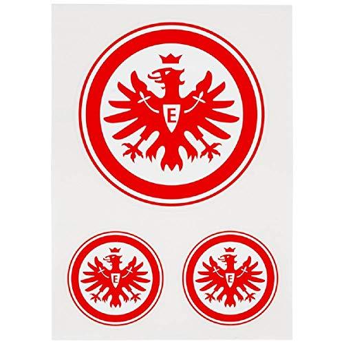 Eintracht Frankfurt Aufkleberkarte 3er Set Logo rot E, Aufkleber, Sticker SGE - Plus Lesezeichen I Love Frankfurt
